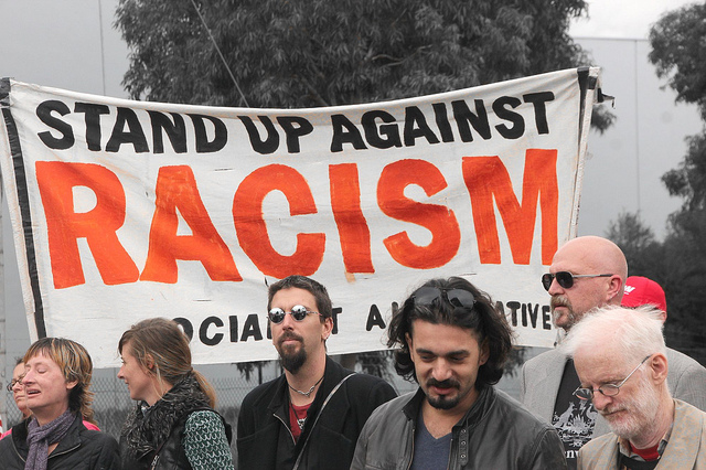 Protest against racism - http://thewire.org.au/story/outrage-over-changes-to-racial-discrimination-act/